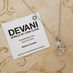 Sacred Om Pewter Pendant Necklace