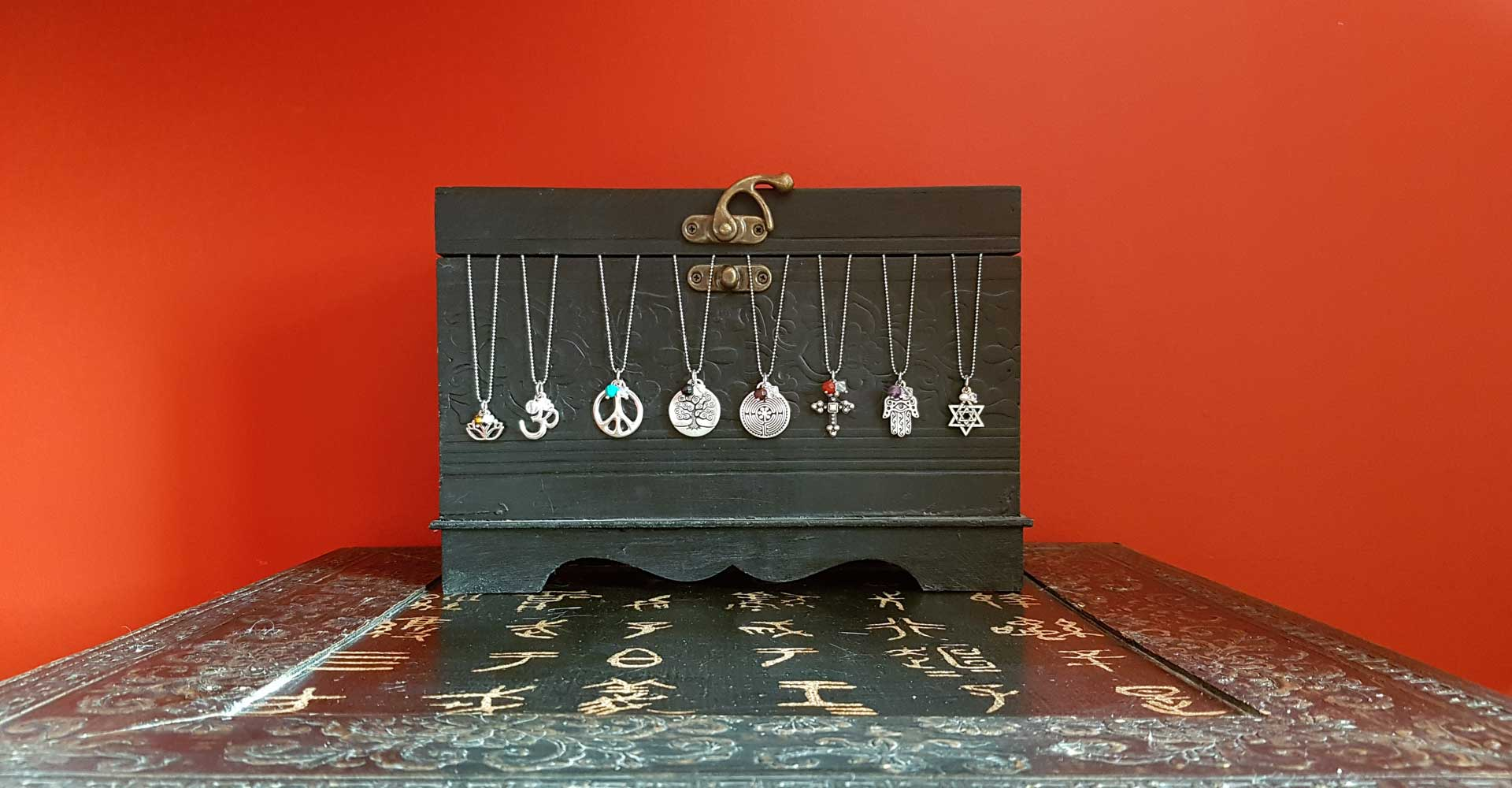 Sacred Symbol Pewter Charm Necklaces