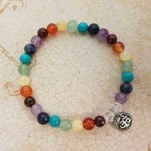 Chakra Bracelet with OM charm